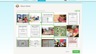 The Classroom Moments feature lets teachers send parents a quick snapshot of a student's progress.