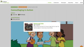 Users can see ages of student contributors and brief bios of all contributors.