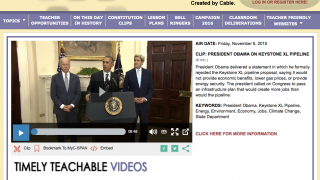 C-SPAN Classroom is a classroom resource featuring videos and information from the cable news channel C-SPAN.