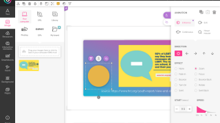 From the editor, users can add pictures, interactive elements, animations, and more.