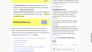 Take advantage of the multitude of annotation options and support resources to get the full effect of Genius.