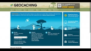 Instructions and explanations about how geocaching works are featured on several site pages.