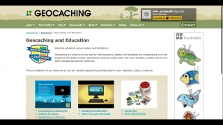 The educator section includes a few resources such as videos and brochures that explain geocaching.