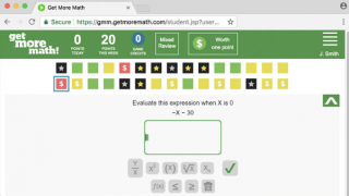 Mixed review questions are color-coded based on skill mastery.