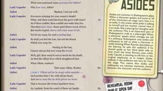 Analysis, commentary, and images run alongside the full text of the play.