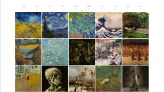 Browse the art and resources on a timeline.