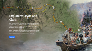 Students can follow in the footsteps of Lewis & Clark on their expedition to explore and map the west.