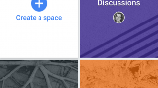 On the main screen, access your spaces, create new ones, and manage up to 100 spaces at once.