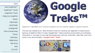 Create a Trek by embedding data, images, and links on a Google Map.