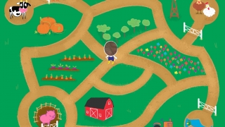 Two players find their way around a map to find target landmarks.