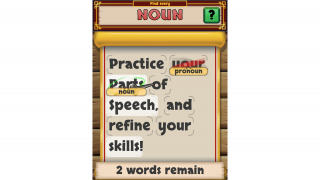 Players tap words that match the current part of speech (while avoiding past mistakes). Highlights help players who get stuck.