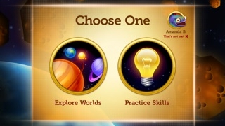 Students can practice specific skills or follow a more random path.