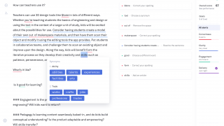 Along with grammatical errors, Grammarly also makes suggestions to improve writing style and flow.