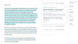 The Plagiarism Checker tells users what percentage of their document matches web-based sources.