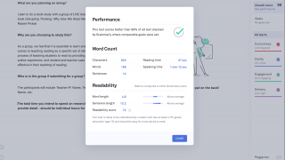 Use the built-in assistant to get a checkup on your document as a whole.