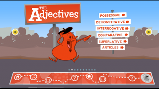 Goofy cartoon characters bring adjectives to life.
