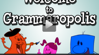 Cute characters and catchy songs teach kids about grammar.