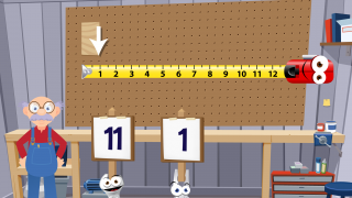 Use the measuring tape to measure boards.