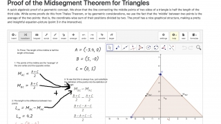Graspable Math is integrated with GeoGebra and allows for both algebra and geometry content.