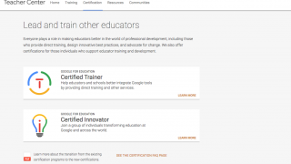 After becoming certified, apply to be a Trainer or Innovator.