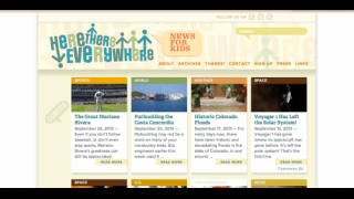 The site's homepage features the most recently added news updates.