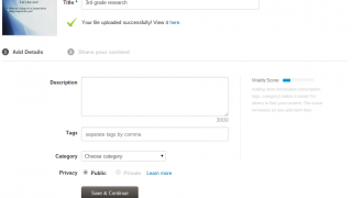 Uploading files is simple and easy.