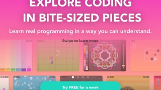 Hopscotch is a block-based coding app for iOS geared toward students ages 7–14.
