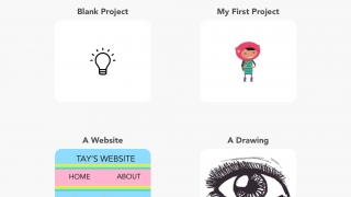 Project templates offer inspiration and an intro how-to video.