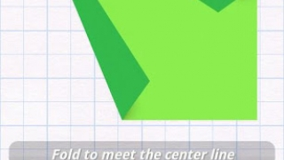 """Step 2 then dynamically """"folds"""" the paper as shown by the lines."""
