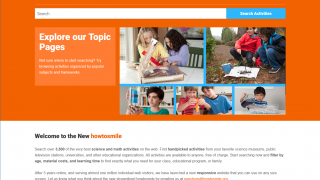 The site includes thousands of activities for STEM, mostly outside the classroom.