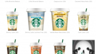 Browsing public Auras mostly seems to consist of branded items in blurry thumbnails.