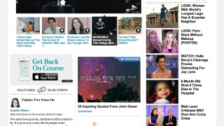 Celeb news is displayed prominently on the site.