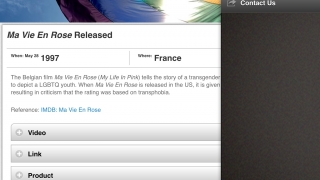 Users can view today's event, explore events by date or by country, and learn more about the app.