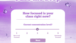 "The app begins and closes with the question ""How focused is your class?"""