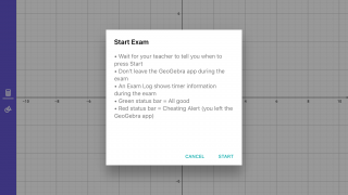Exam mode keeps students in the app.