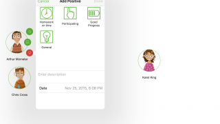 Quick taps record student behaviors and make for easy classroom management.