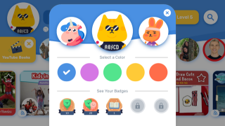 Students can customize their avatars and themes.