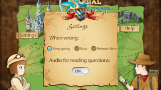 Settings can be adjusted based on student need and level.