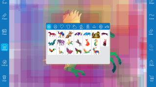 Create or enhance images or drawings with stickers.