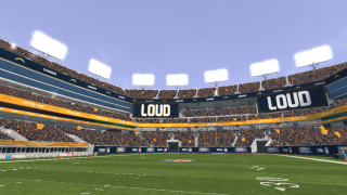 Graphics and audio bring you right down onto the field.