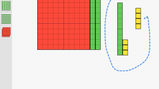Drag a path around groups of blocks to select them all at once.