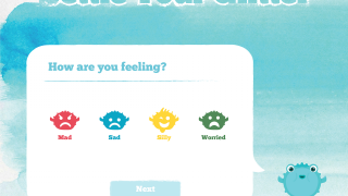 On the opening screen, kids can decide what emotion they're currently feeling.