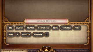 In-game hints and feedback nudge students to the right word combinations.