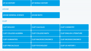 There's a huge variety of subjects available.