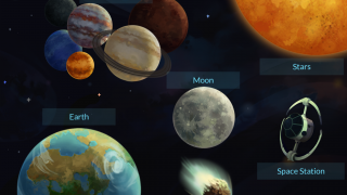 Kids can learn about the sun, moon, planets, and other celestial bodies.