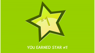 Kids earn a gold star after viewing each video.