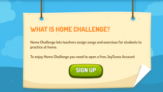 "The ""Home Challenge"" section lets teachers assign practice homework and track student progress."