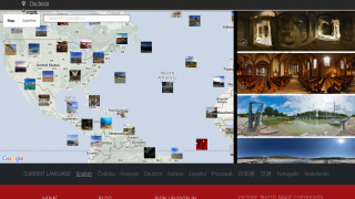 Explore the world map to find images from famous places around the world.