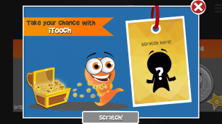 Play scratch-off games and log in daily to earn points toward power-ups.