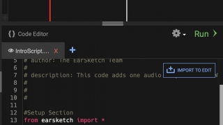 Importing a track and writing some basic code